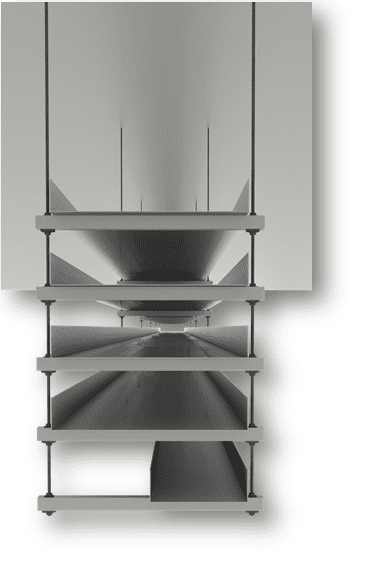 Multi-tier hanger possibility in Revit model with MEP Hangers addin