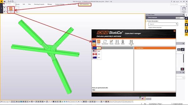 IDEA StatiCa BIM e Tekla Structures > Eiseko Computers