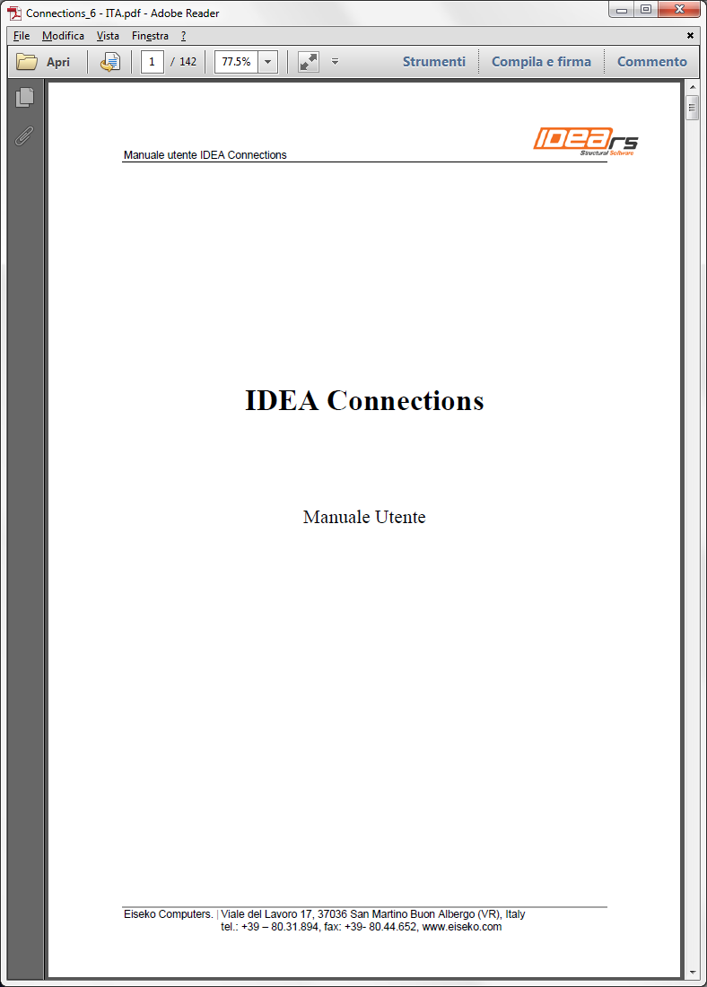 Manuale Utente IDEA Connections
