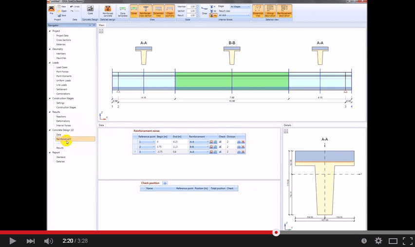Software cemento armato precompresso - Trave a struttura mista