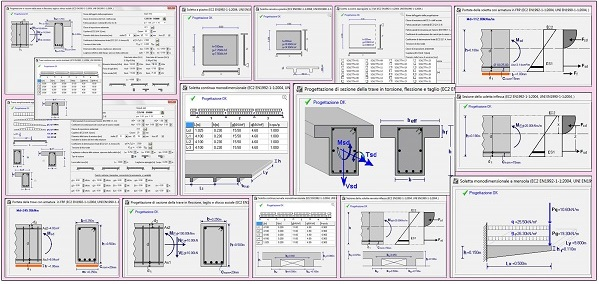 concrete element calculation